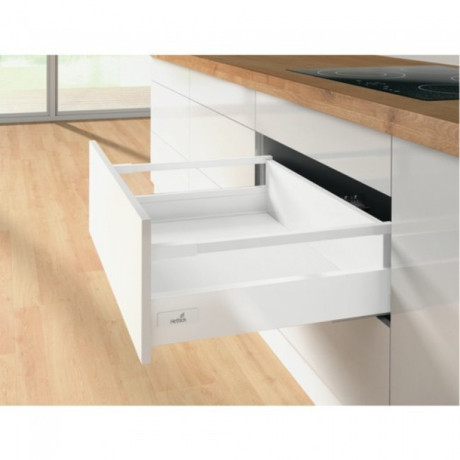 Kit tiroir tringles InnoTech Atira-hauteur 144 mm-blanc HETTICH