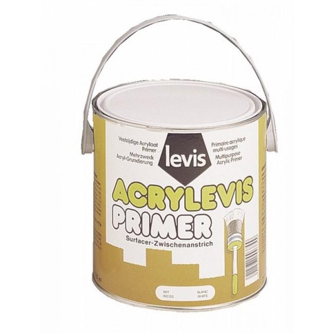 Sous-couche blanche Acrylevis Primer 2,5L LEVIS