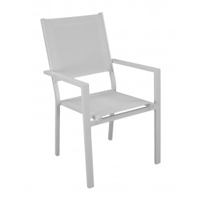 Lot de 2 fauteuils de jardin aluminium - Rimona INDOOR OUTDOOR