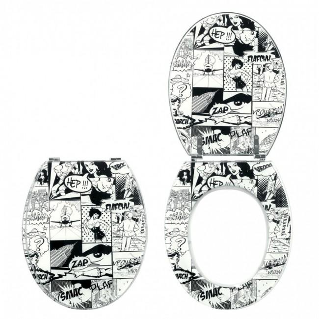 Abattant wc - sur cuvette standard - BD Pics Trendy Line WIRQUIN PRO