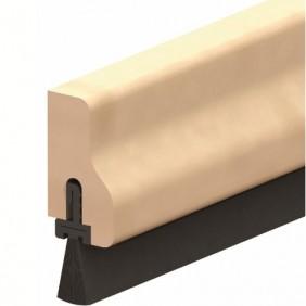 Plinthe en applique à brosse de bas de porte type HDS - B - Hêtre ELLEN