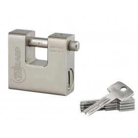 Cadenas blindé acier - 5 clés - THOR FTH THIRARD