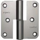 Paumelle à lame ouverte - en aluminium anodisé - 80x80 mm ARGENTA