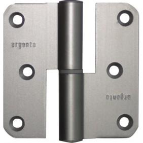 Paumelle à bouts ronds - nœud plat - aluminium anodisé argent - 80x80 mm ARGENTA
