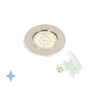 Spot LED à encastrer Crux-in - lumière blanc froid - nickel satiné EMUCA