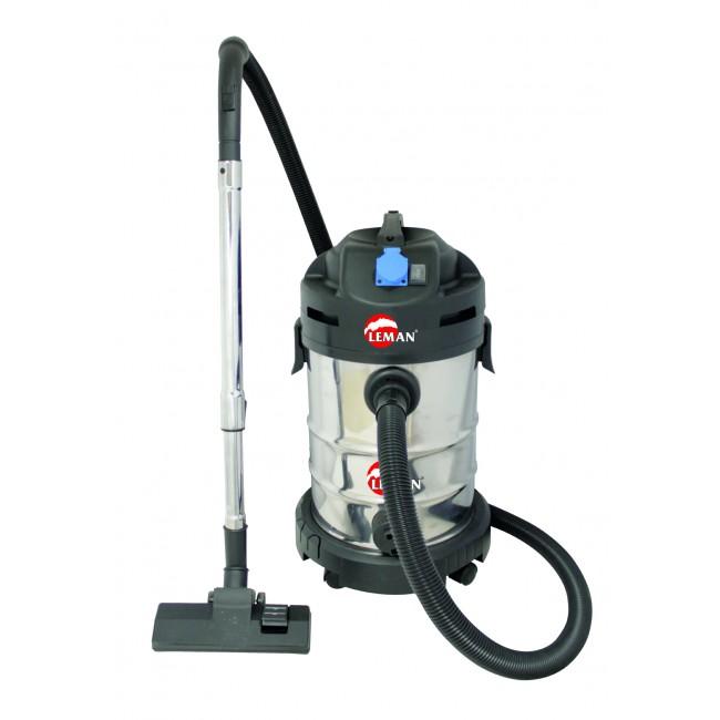 Aspirateur eau poussière inox 30L 1400W+ prise synchronisée LOASP306 LEMAN