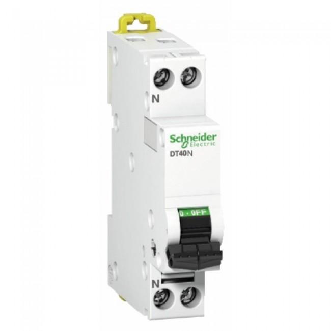 Disjoncteur unipolaire + neutre - Acti9 Prodis DT40N SCHNEIDER