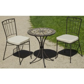 Table de jardin bricozor for Table haute 50x50