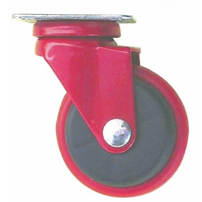 Roulette de meuble design rouge, roue en polypropylène GUITEL
