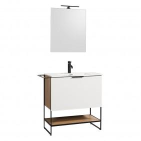 Meuble de salle de bains - 80 cm - Luna - plan résine BATHDESIGN
