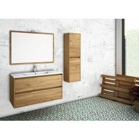 Meuble 1 vasque - 1000x450x550mm - miroir - Abia BANIANA BATH