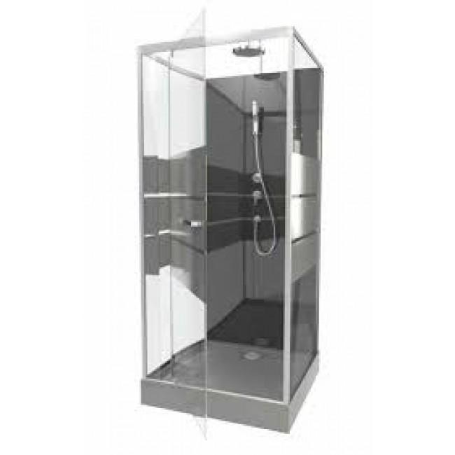 Cabine de douche study 3 dimensions porte pivotante aurlane bricozor - Dimension porte douche ...