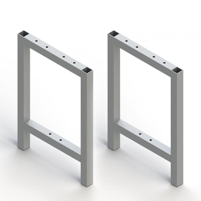 Pied pour fabrication de banc - profil carré en aluminium EMUCA