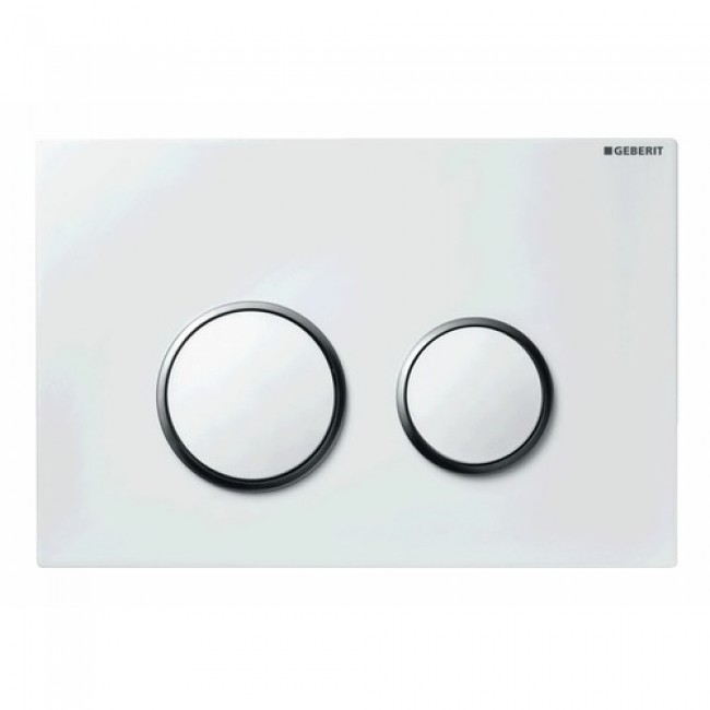Plaque de commande double touche - Sigma 20 - Blanc brillant GEBERIT