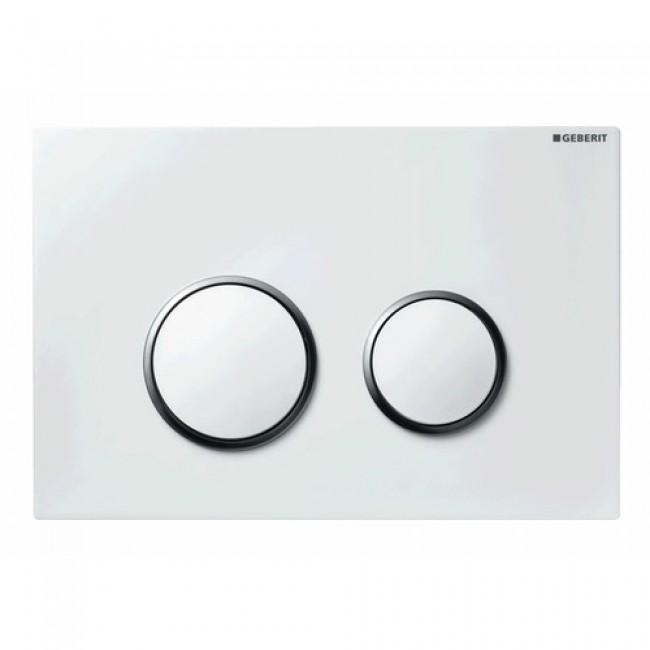 Plaque de commande double touche - Sigma 20 - Blanc brillant GEBERIT
