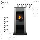 Poêle décoratif - Cubic - Gris - 1000w/2000w - Optimyst GLEN DIMPLEX