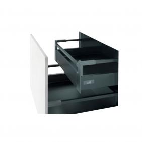 Kit tiroir à l'anglaise avec tringles - hauteur 144 mm - sans coulisse HETTICH