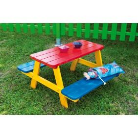 Table pique nique multicolore pour enfant Fourmi