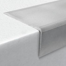 Nez de marche métallique strié - visserie décalé pour rénovation - 9 T DINAC