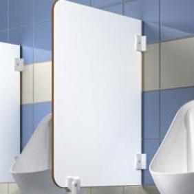 Ecran d' urinoir SANITEC 40x70 cm blanc SANITEC