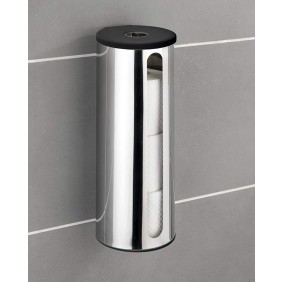 Porte papier toilette - Support mural - Acier - Fixation Turbo-Loc WENKO