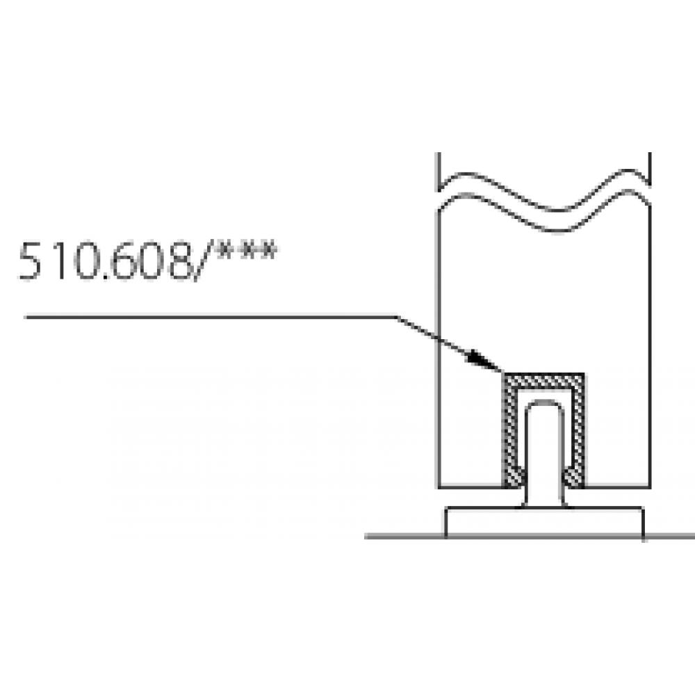 rail bas pour porte coulissante symetric bricozor. Black Bedroom Furniture Sets. Home Design Ideas