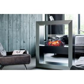Box de décoration - feu gris effet béton avec insert encastrable - Boxx Grey GLEN DIMPLEX
