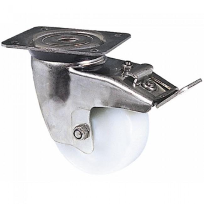 Roulette pivotante à blocage - inox et polyamide - Mécaninox GUITEL