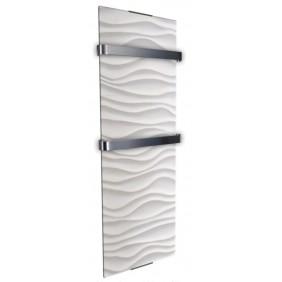 Radiateur sèche serviette 1200 W - vertical - Ondulation CHEMIN' ARTE