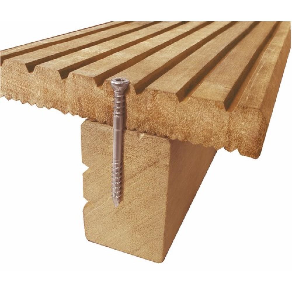 vis inox pour terrasse bois double filet t te. Black Bedroom Furniture Sets. Home Design Ideas