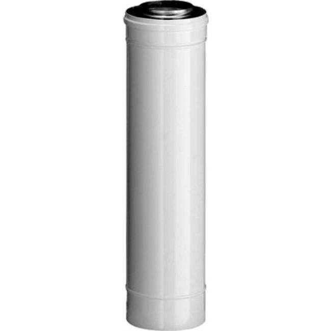 Conduit chaudière à ventouse alu/galva - 60 x 100 mm - longueur 1 m