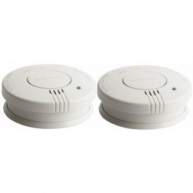 Lot de deux détecteurs de fumée - certication EN14604 - Kira XELTYS