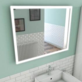 Miroir auto-éclairant - Silver Venus - 60x80x5cm AURLANE