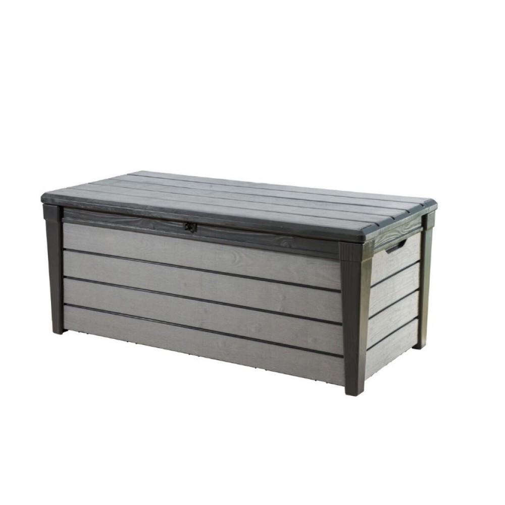 coffre de jardin en rsine 455 litres brossium gris keter - Coffre De Jardin