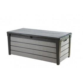 Coffre de jardin en résine -  455 litres - Brossium gris KETER