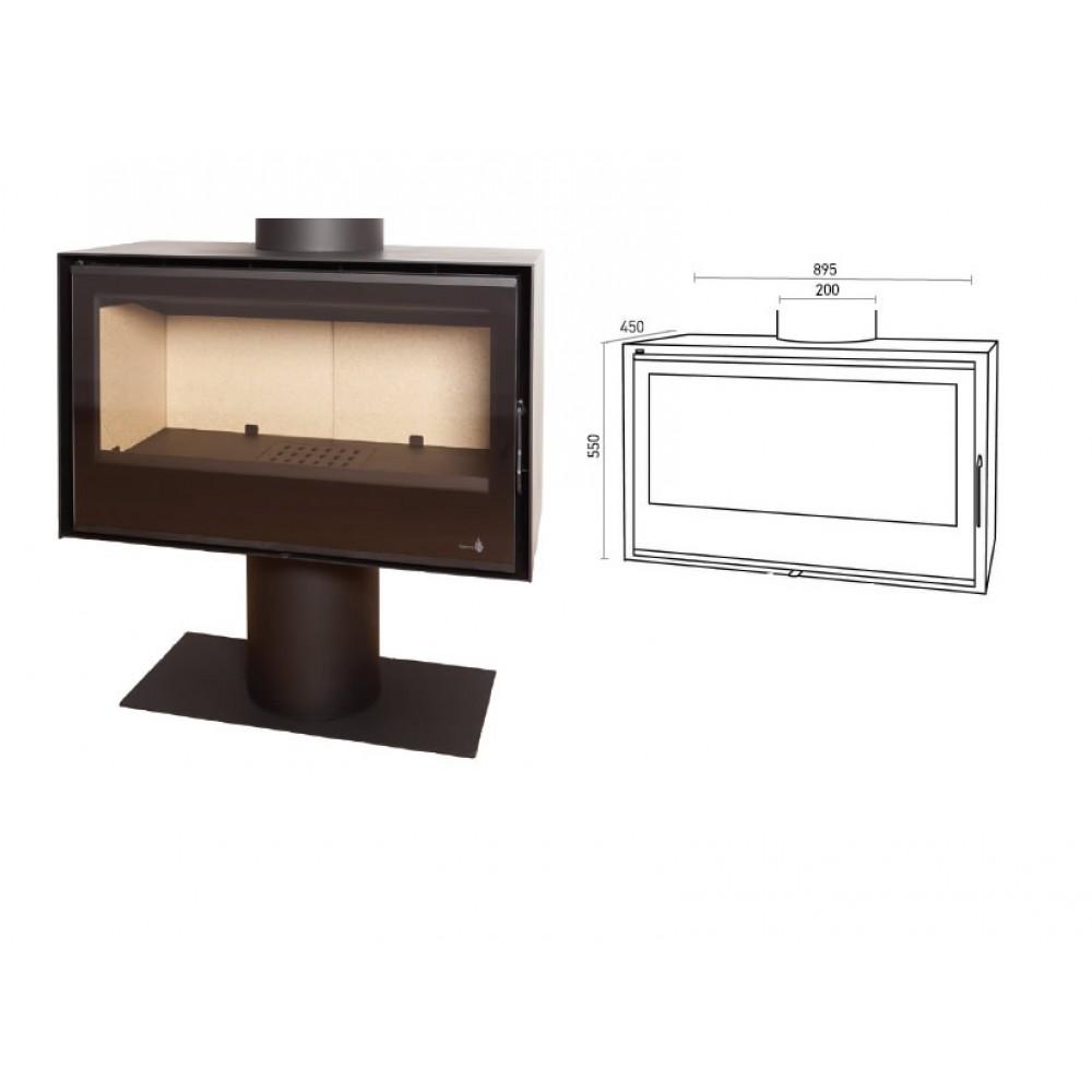 po le bois pour surface 140m2 l70 x p35 x h36 cm sl290 termofoc bricozor. Black Bedroom Furniture Sets. Home Design Ideas