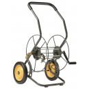 Chariot dévidoir métallique - 2 roues - 55 m de tuyau HAEMMERLIN