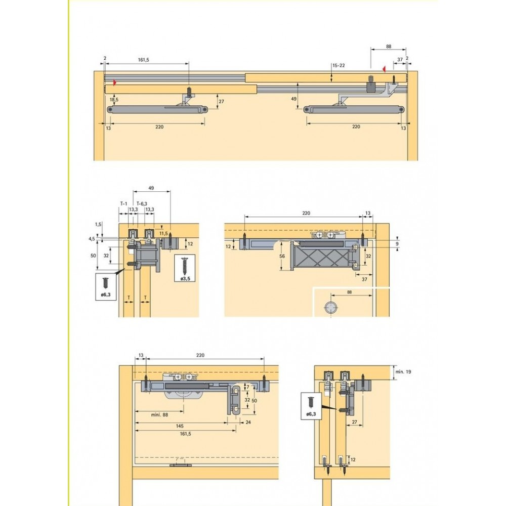 Syst me porte coulissante topline 110 vantail 20 kg bricozor - Systeme porte coulissante ...