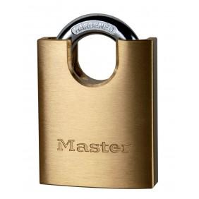 Cadenas à clé en laiton massif - largeur de 50 mm avec anse protégée MASTER LOCK