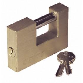 Cadenas rectangulaire - coprs laiton - ance acier cémenté - City ISEO