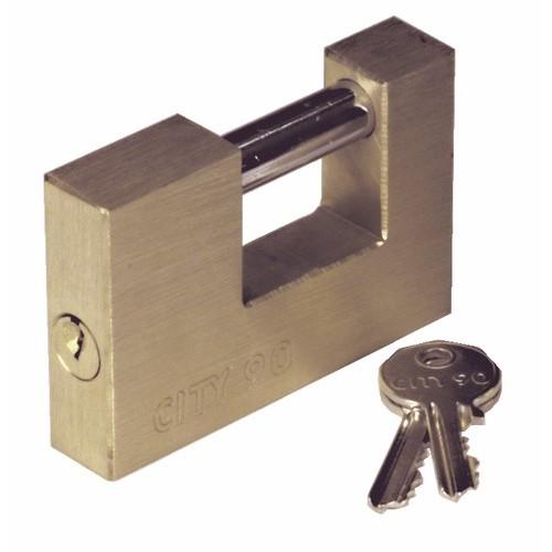 Cadenas rectangulaire - coprs laiton - ance acier cémenté - City