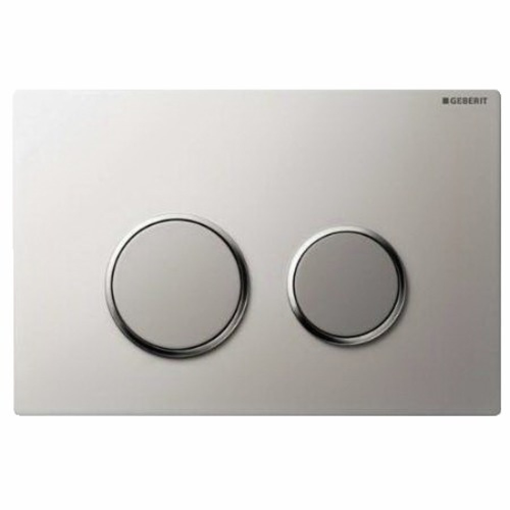 plaque de commande double touche sigma 20 acier inoxydable geberit bricozor. Black Bedroom Furniture Sets. Home Design Ideas