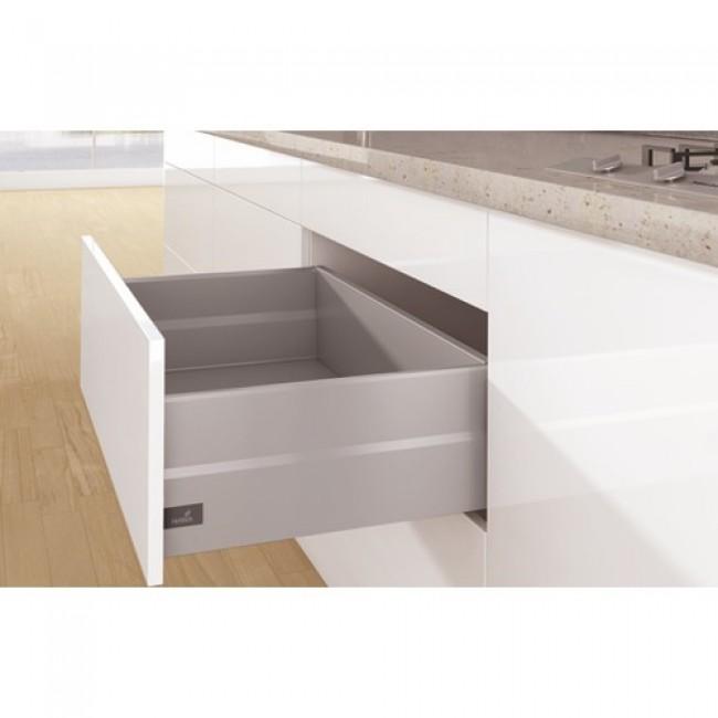 kit tiroir topside arcitech profil h126 dos h218 mm argent hettich bricozor. Black Bedroom Furniture Sets. Home Design Ideas