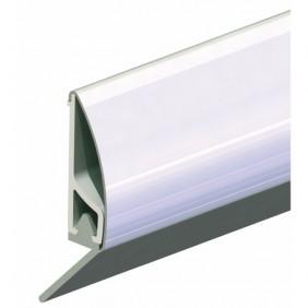 Plinthe en applique à lèvre de bas de porte type PDS - Inox ELLEN