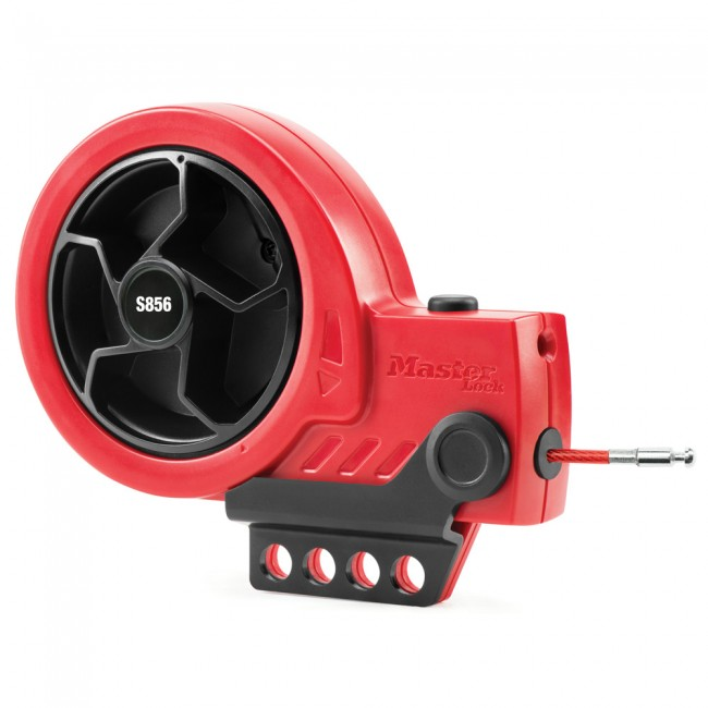 Dispositif de consignation rétractable avec câble en acier MASTER LOCK