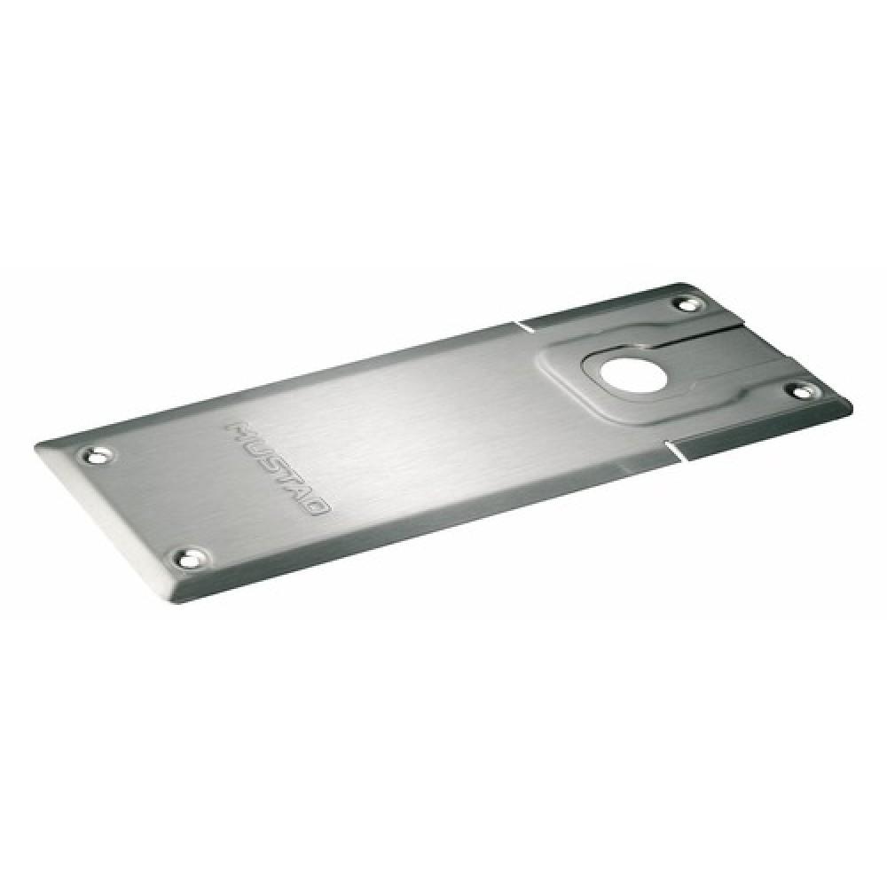 plaque de recouvrement standard pour pivots de sol mustad normbau bricozor. Black Bedroom Furniture Sets. Home Design Ideas