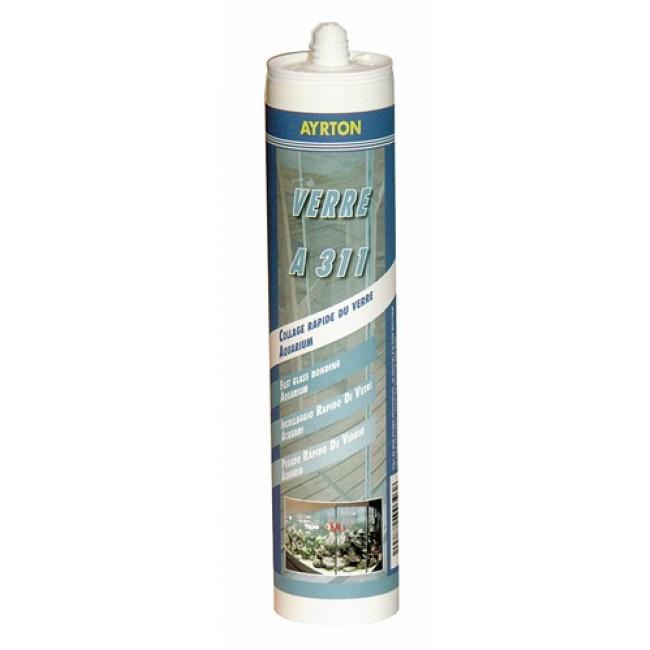 Mastic silicone acétique A 311 pour le verre - 300 ml AYRTON