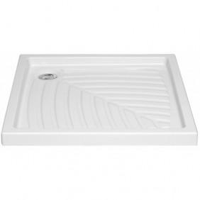 Receveur à poser extra-plat en céramique - 70x70 cm VITRA