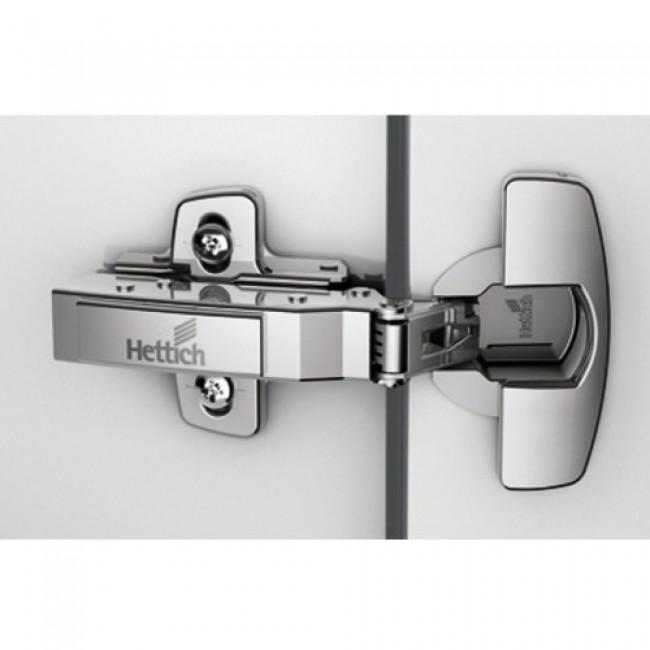 Charnières invisibles à montage rapide fix Push to open 110° Sensys 8675 HETTICH
