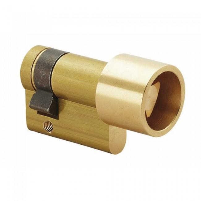 Demi-cylindre - 30 x 10 mm - à triangle protégé de 11 mm - laiton poli COUILLET